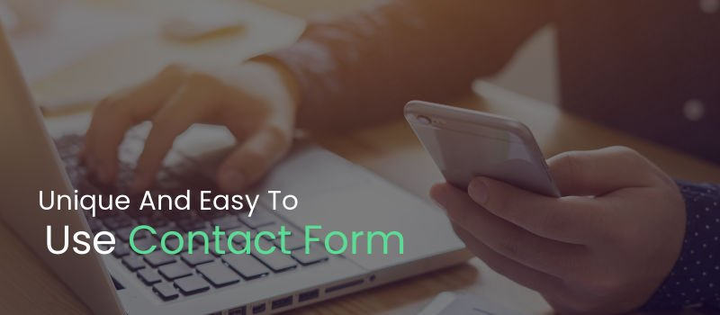 Unique And Easy To Use Contact Form