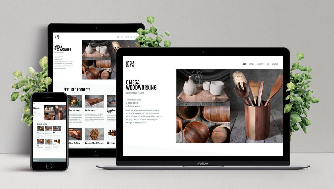 Web Design and Development for Omega Woodworking