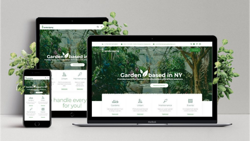 Web Design Development Rock On Landscaping