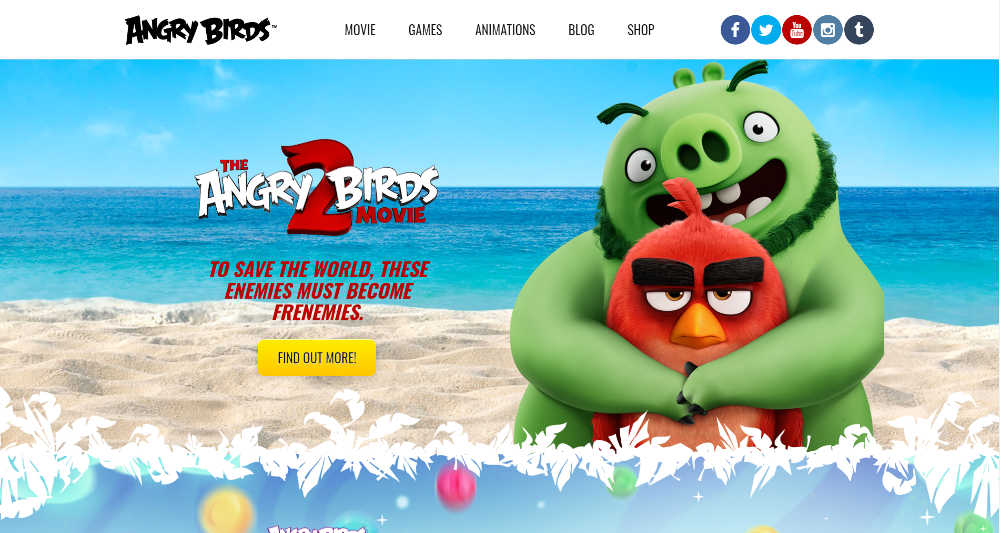 Angry Birds WordPress Website