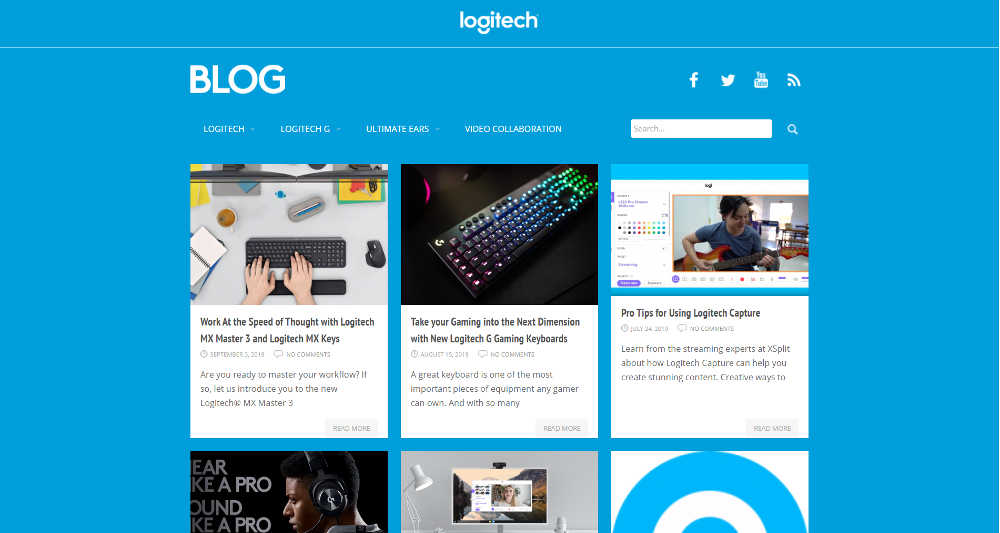 Logitech Blog WordPress Website