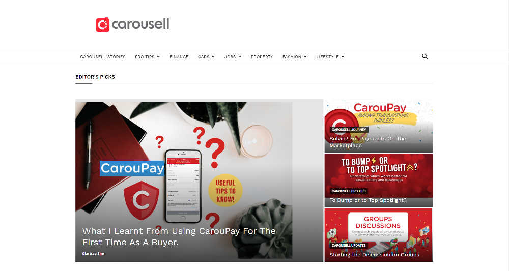 Carousell WordPress Website