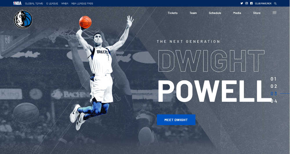Dallas Mavericks WordPress Website