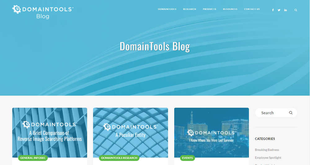 DomainTools WordPress Website
