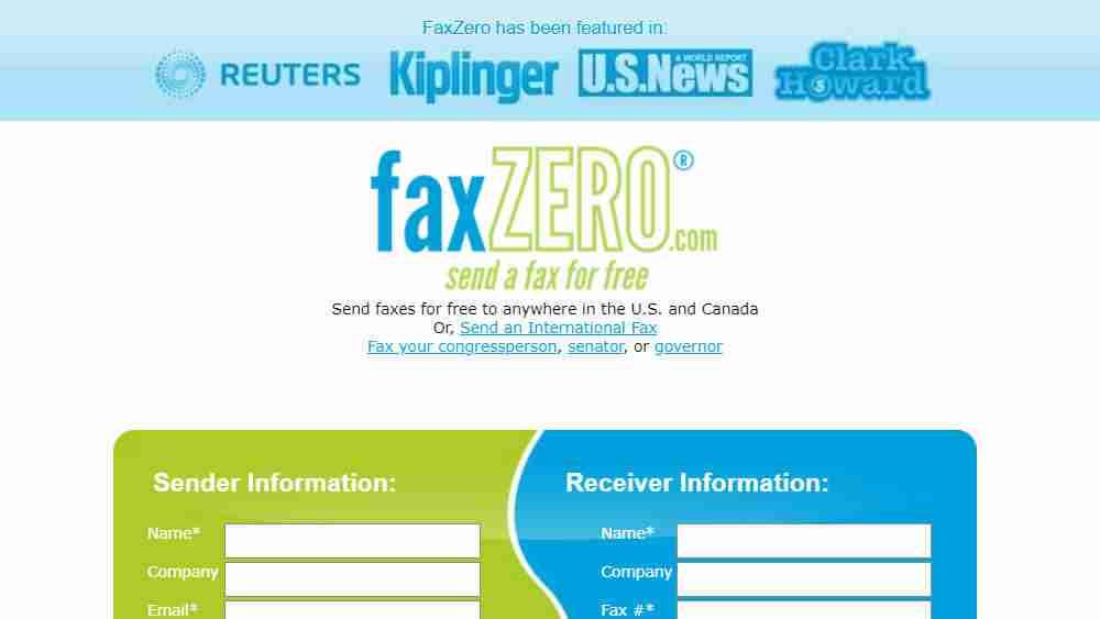 Free Online Fax Service: FaxZero