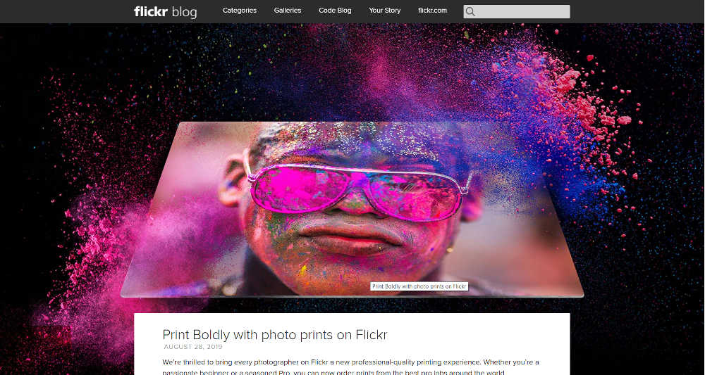 Flickr WordPress Website