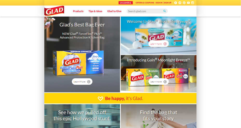 Glad-WordPress-Website