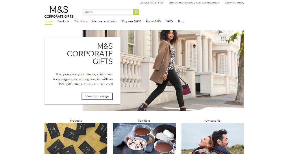 Marks & Spencer Business WordPress Website