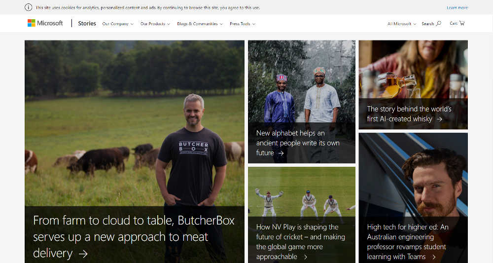 Microsoft News Center WordPress Website
