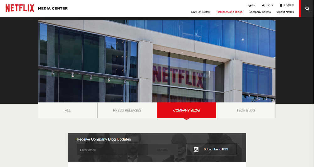Netflix Media Center WordPress Website