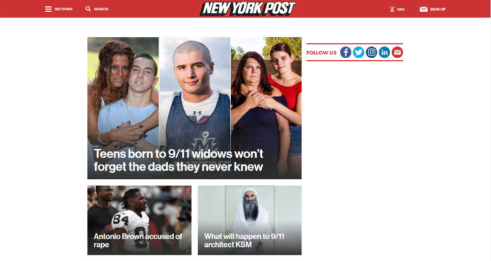 New York Post WordPress Website