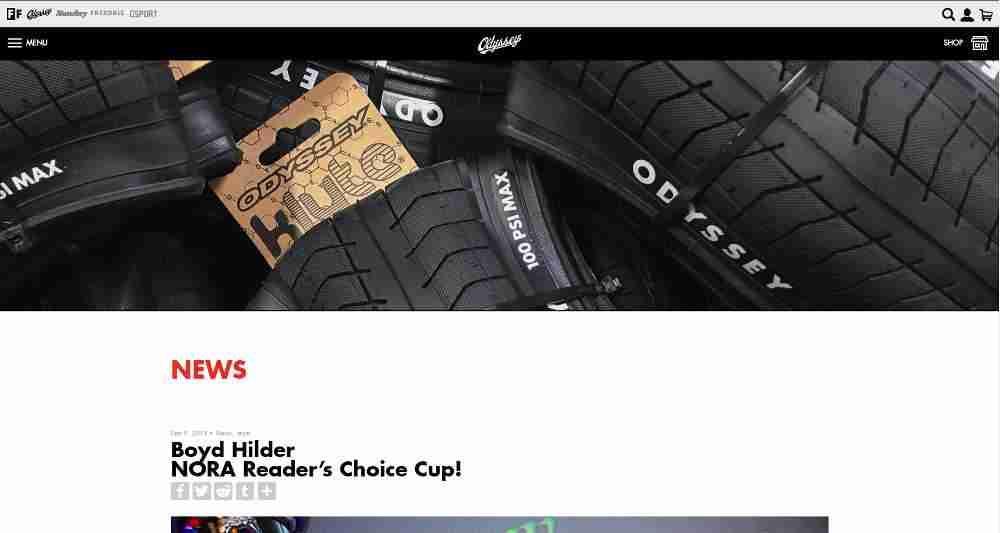 Odyssey BMX WordPress Website