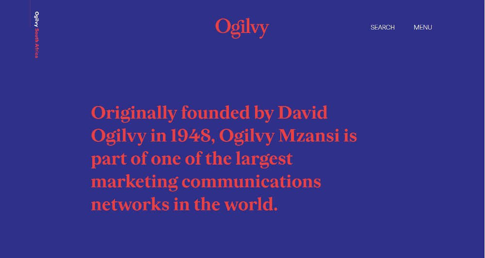 Ogilvy & Mather South Africa WordPress Website