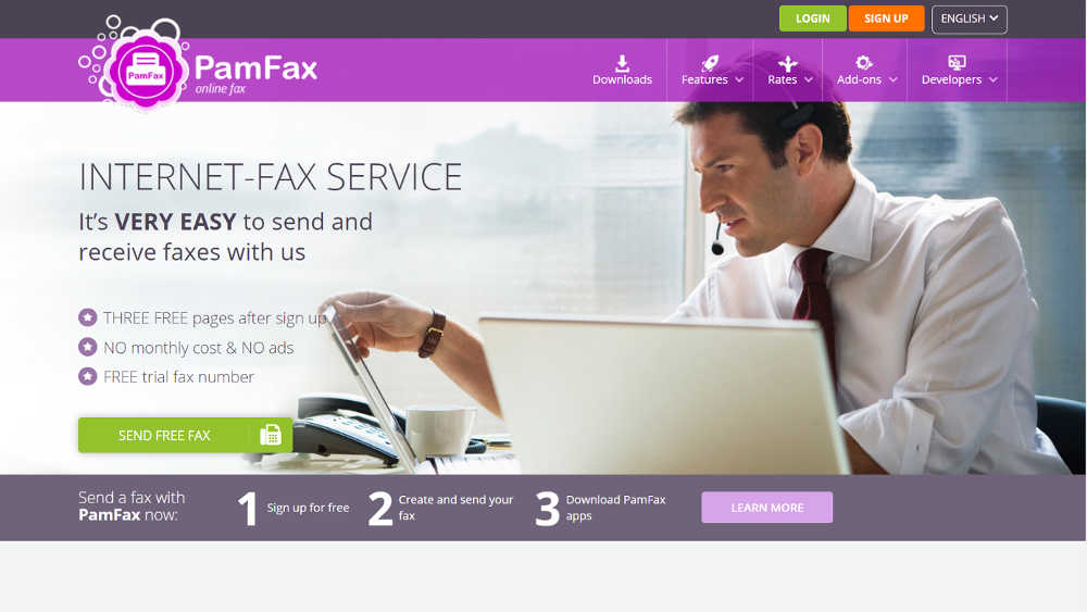 Free Online Fax Service: PamFax