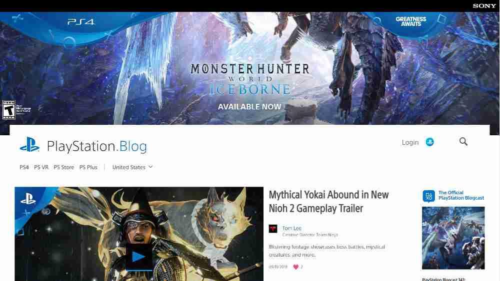 Playstation Blog WordPress Website