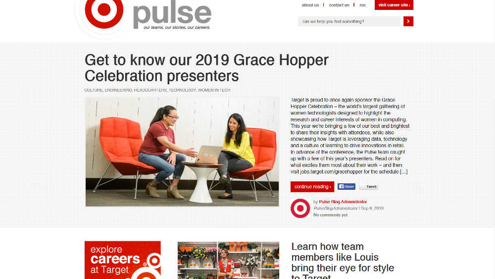 Pulse By Target WordPress Website