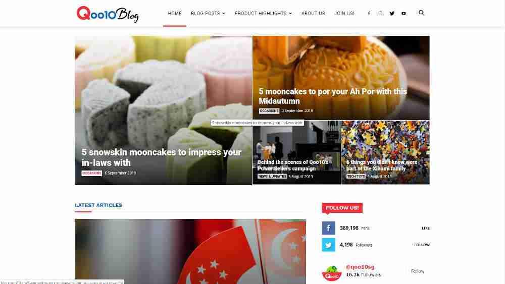 Qoo10 WordPress Website