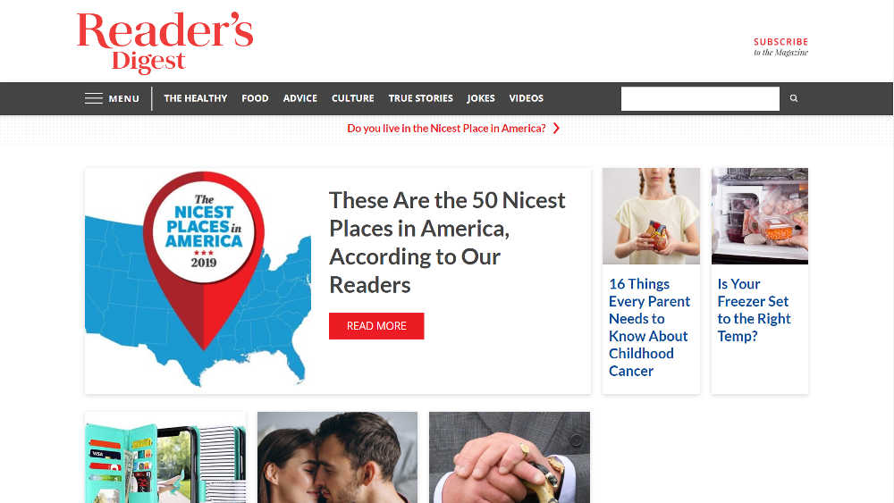 Reader Digest WordPress Website