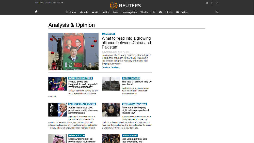 Reuters Blog WordPress Website