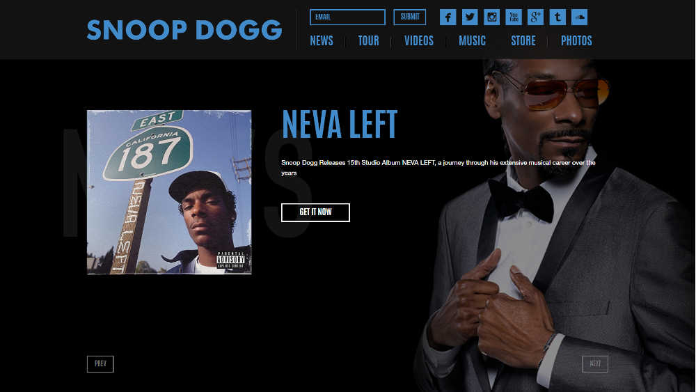 Snoop Dogg WordPress Website