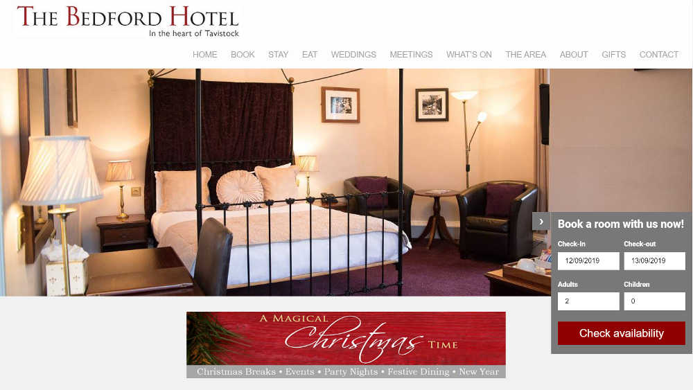 The Bedford Hotel WordPress Website