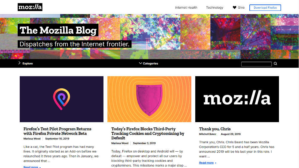 The Mozilla Blog WordPress Website