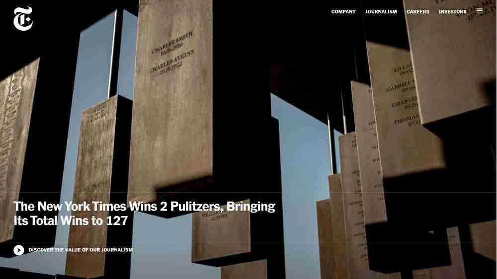 The New York Times Company WordPress Website