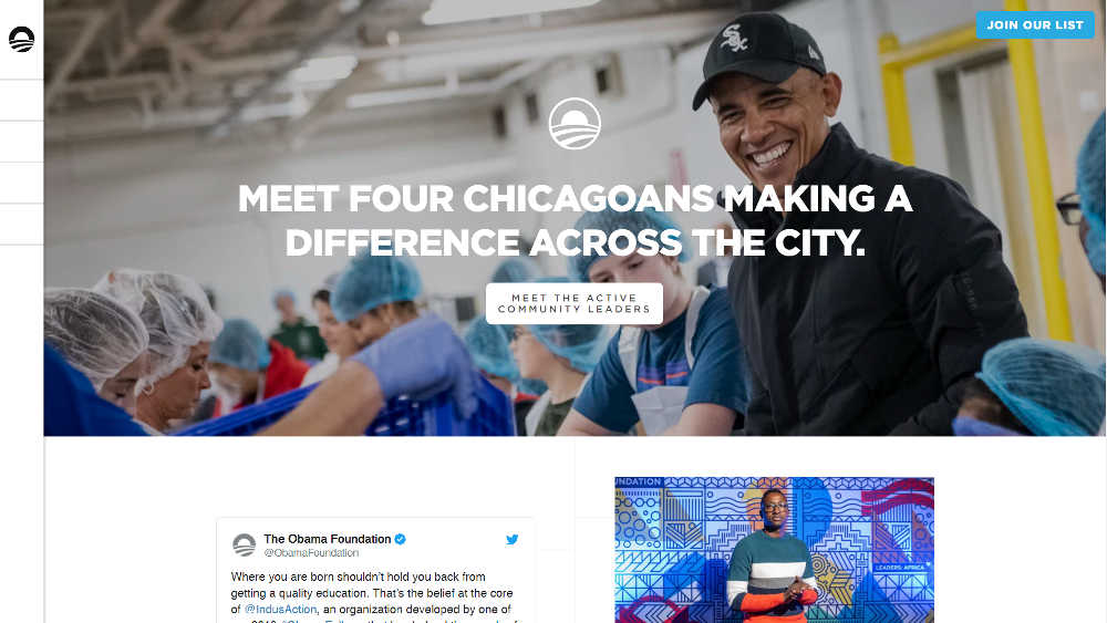 The Obama Foundation WordPress Website
