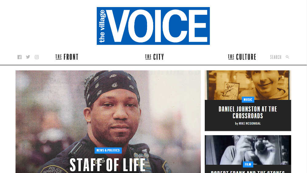 The Villlage Voice WordPress Website