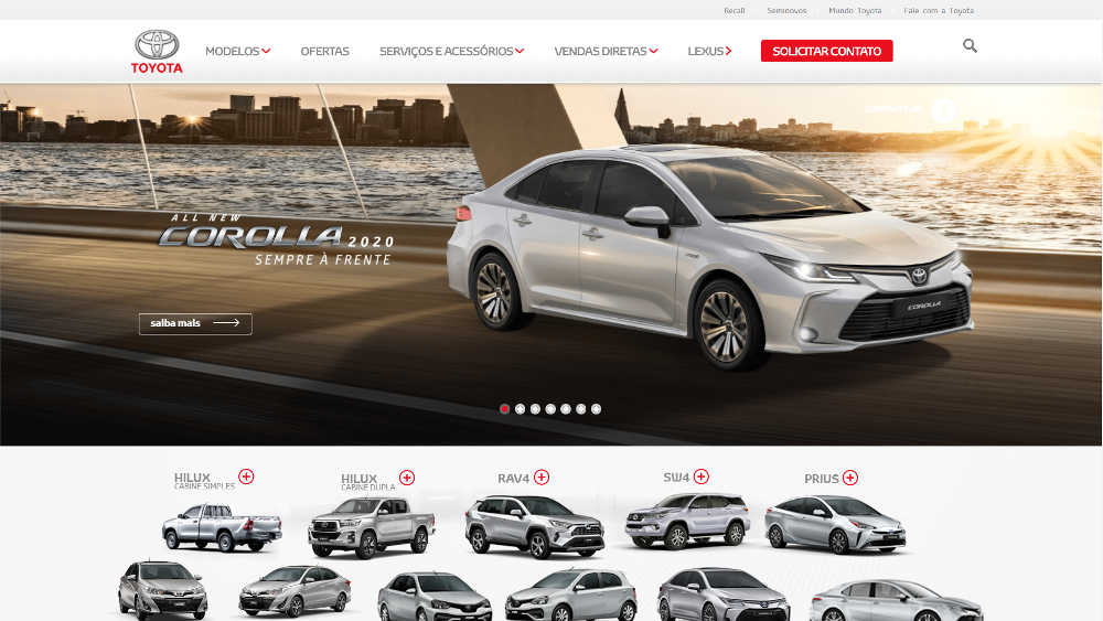Toyota Motors Brasil WordPresss Website