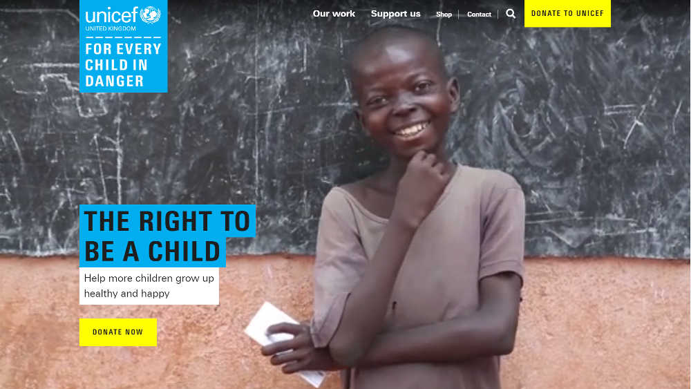 Unicef UK WordPress Website
