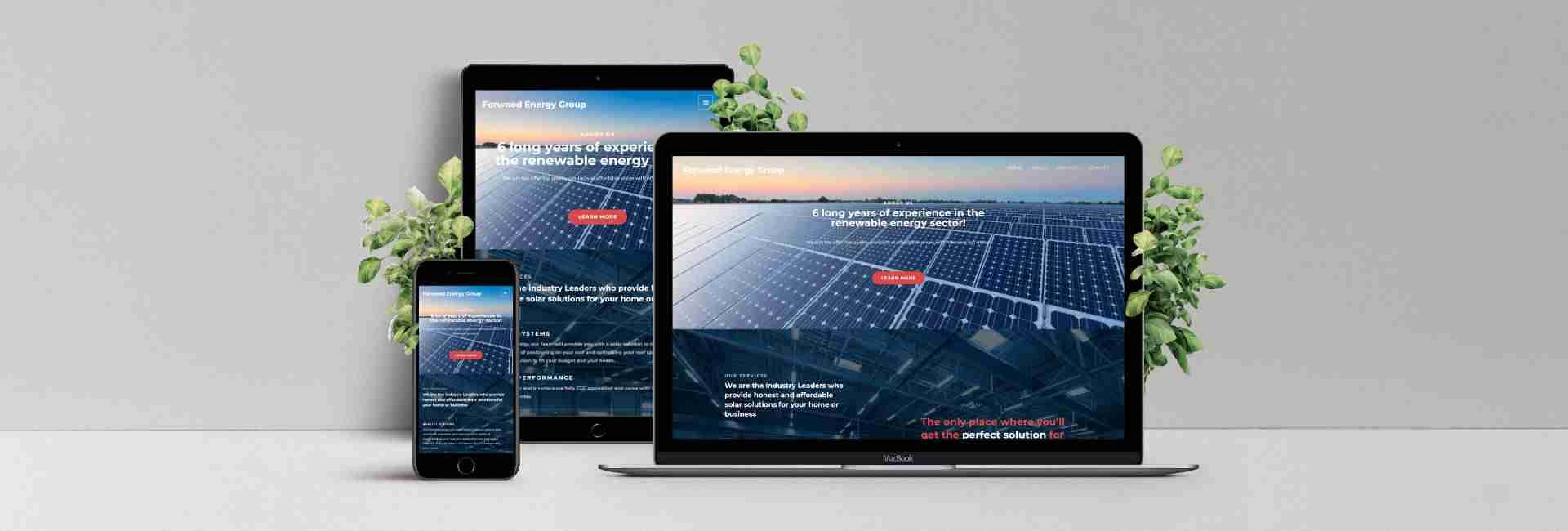 Forwoood Energy Group Web Design Portfolio