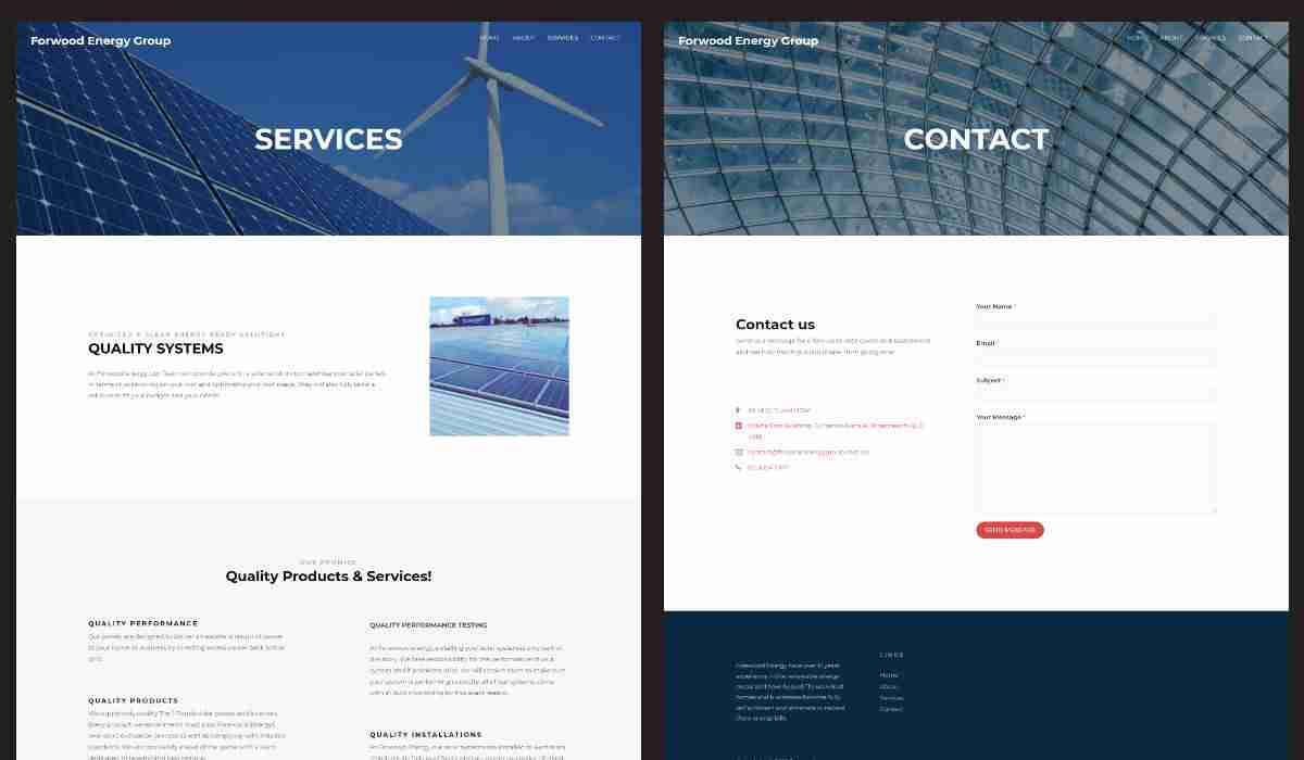 Forwood Energy Group Web Design Portfolio Showcase
