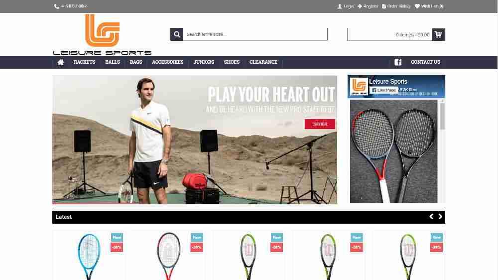 Tennis Shops - Leisure Sports