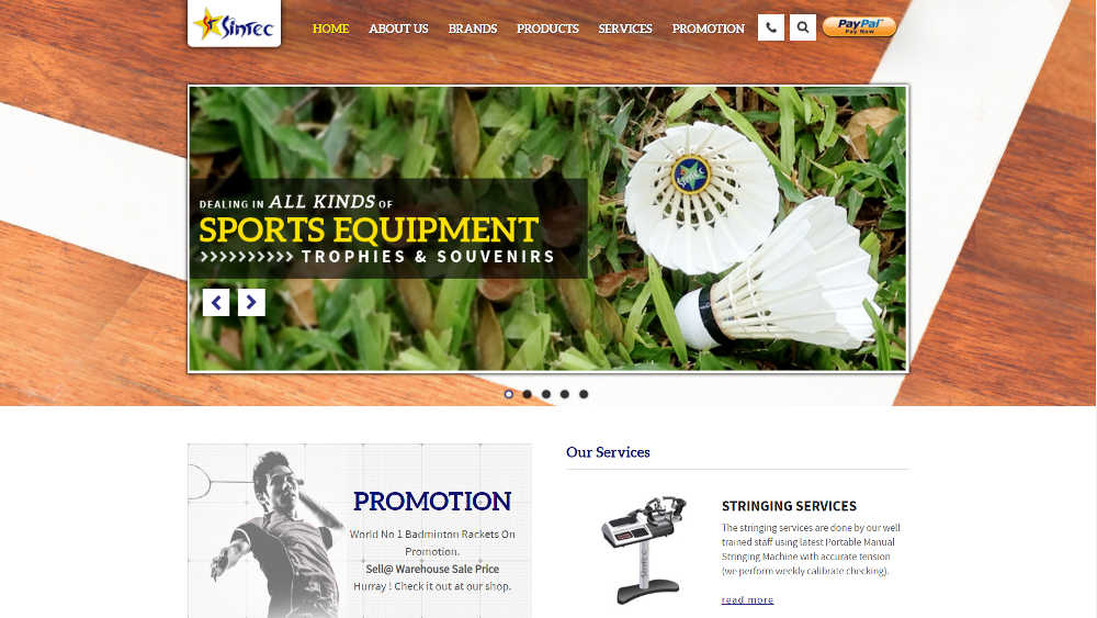 Tennis Singapore Shop - Sintec Sportscity