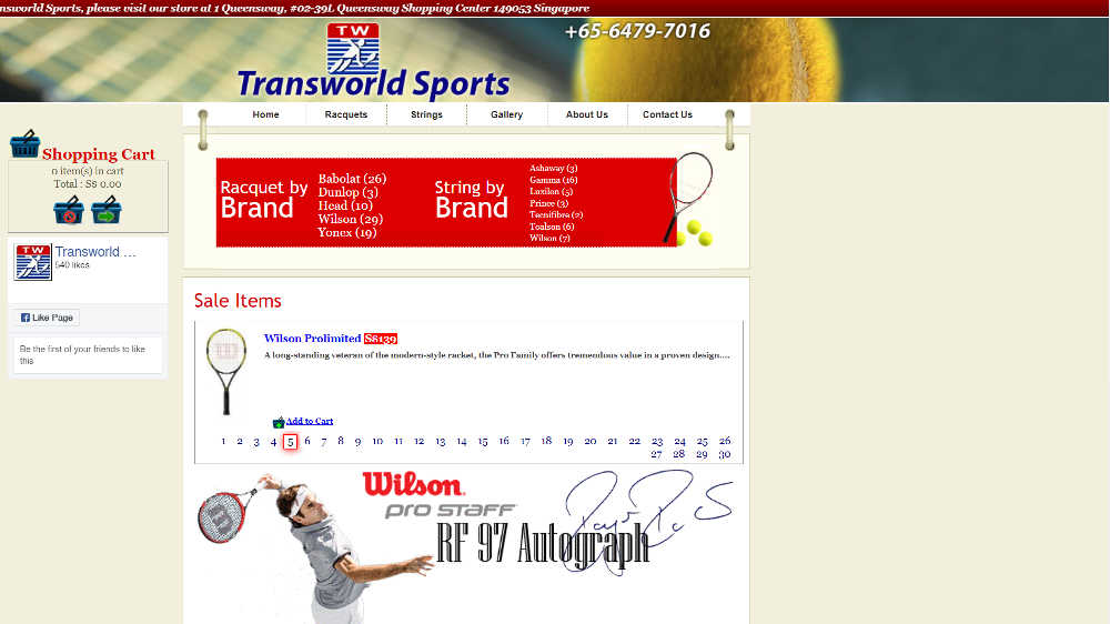 Tennis Stores - Transworld Sports