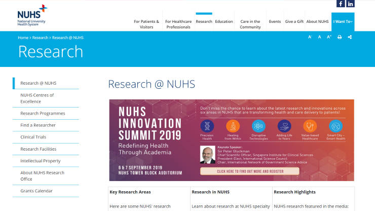 NUHS Research Section