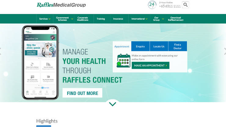 Raffles Medical Group Healthcare System