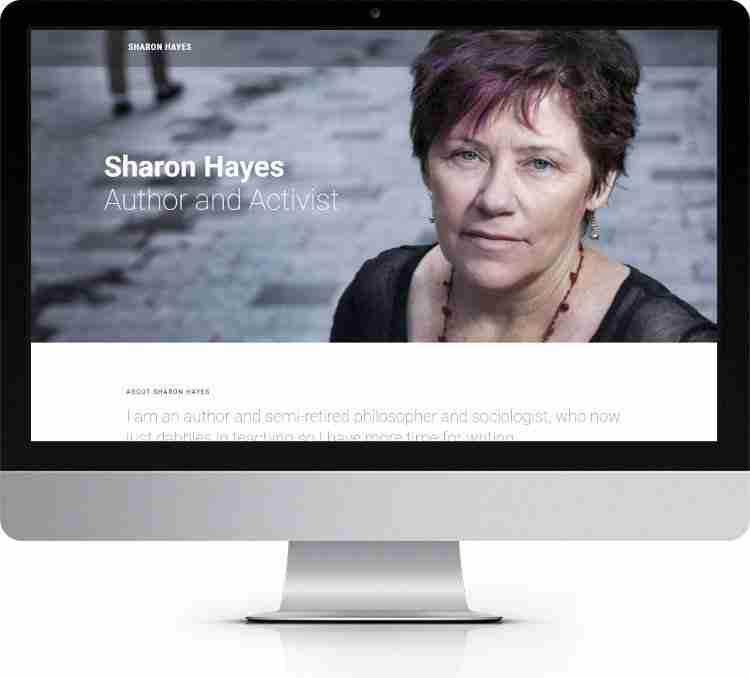 One Page Web Development Sharon Hayes