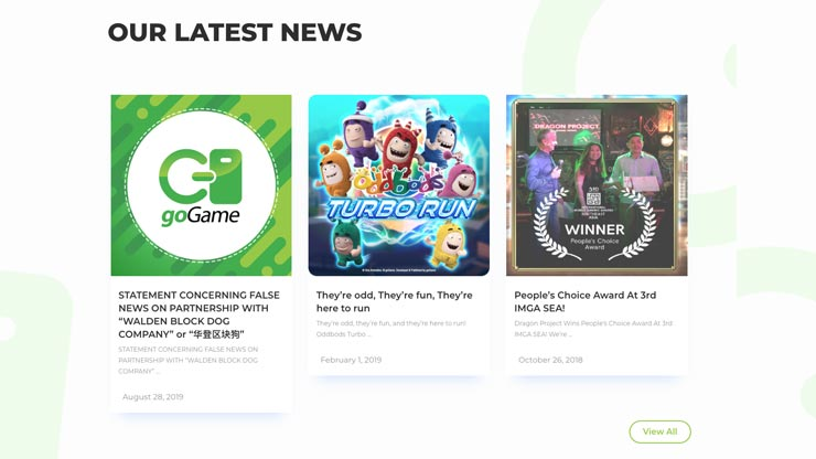 Gaming Company Website Singapore: goGame