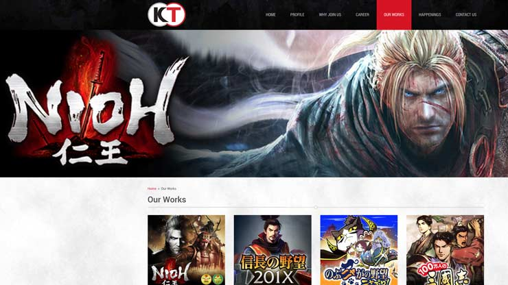 Gaming Company Website Singapore: Koei Tecmo Singapore