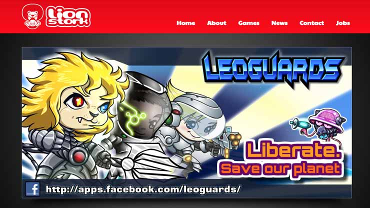 Gaming Company Website Singapore: Lionstork Studios