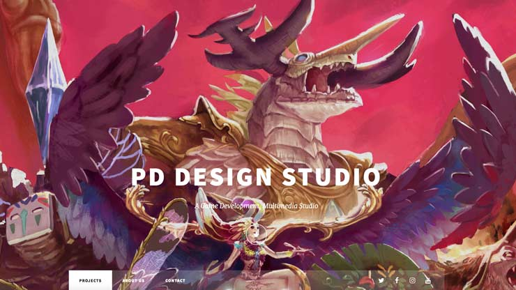 Gaming Company Website Singapore: PD Design Studio