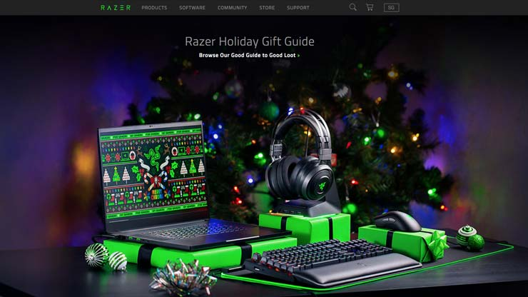 Gaming Company Website Singapore: Razer