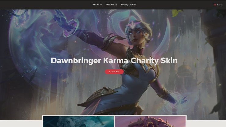 Gaming Company Website Singapore: Riot Games