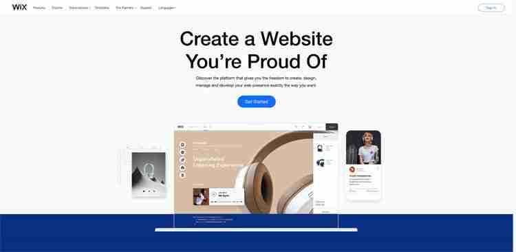 Best Website Builders: Wix