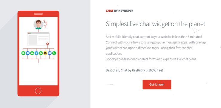 Website Chat Widget: KeyReply