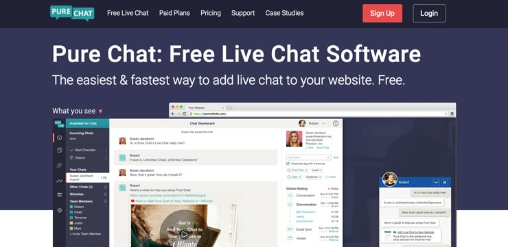 Website Chat Widget: Pure Chat