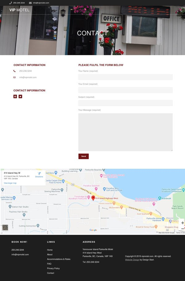 V.I.P Motel Web Design