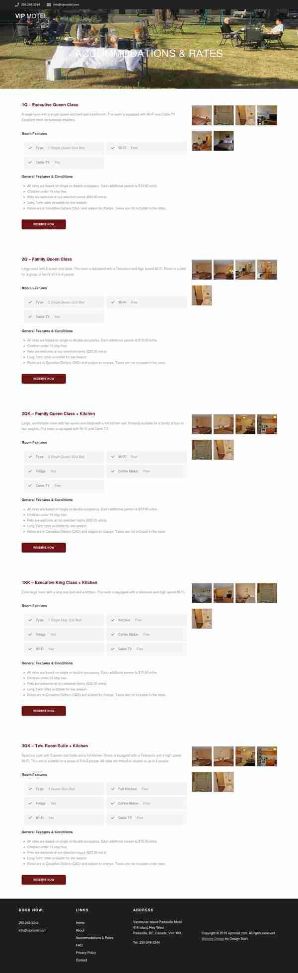V.I.P Motel Web Development
